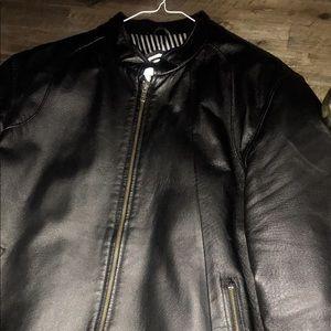 Men's Volcom leather jacket